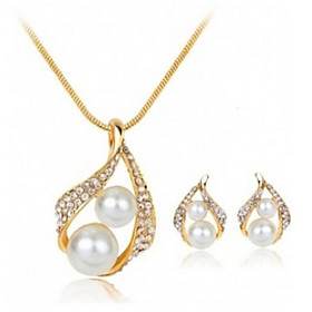 Women's Jewelry Set - Imitation Pearl, Rhinestone Drop Basic Include Gold For Wedding Party Special Occasion