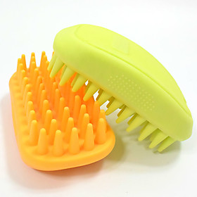 Pet bathing beauty massage brush Cats and dogs a bath brush bath high quality rubber 5666575