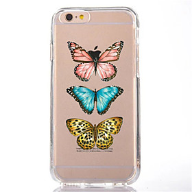 Para la cubierta ultrafina suave del caso de la contraportada del tpu de la mariposa de la historieta del iphone 7 para el iphone de la 5831047