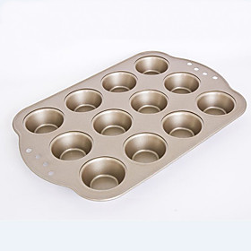 small size  12 cups muffin cake pan non stick cake mould food grade carbon steel FDA 5766262