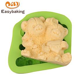 Animal Mould LOVE Teddy Bears Fondant Silicone Molds for cake decorating Colour Random 5862675