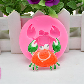 1Pcs  Crab 3D Silicone Molds Non-Stick Fondant  Soap Chocolate Moulds Cake Decorating Tools Cupcake Baking Moulds   Random  Color 5765389