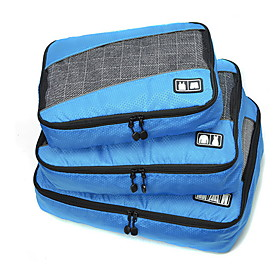 3 Pieces Travel Bag / Travel Organizer / Travel Luggage Organizer / Packing Organizer Large Capacity / Portable / Foldable Clothes Fabric / Polyester / Net Fab