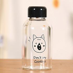 2Pcs Cartoon Outdoor Drinkware 201-300 ml Portable Glass Water Water Bottle Random Pattern 5759458