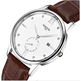 Men's Fashion Watch Quartz Leather Band Black Brown White/Brown Brown/Gold Black/Gold Black 5770925