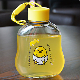 300ml Cartoon Portable Glass Water Juice Bottle 5775276