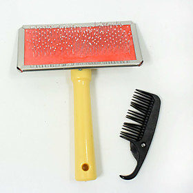 New hot selling high quality Wood pet dog comb Round Needle With points Practical beauty pet brush Give a small comb 5789709