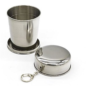 1Pcs Stainless Steel Camping Folding Cup Traveling Outdoor Camping Hiking Sports Mug Portable Collapsible Cup Bottel 5765304