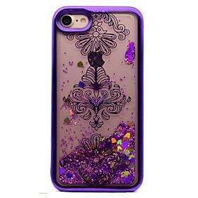For iPhone 7 Plus 7 TPU Material Plating Laser Carving Quicksand Phone Case 6s Plus 6 Plus 6S 6 SE 5s 5 5873384