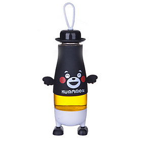 380ml Cartoon Portable Glass Water Juice Bottle 5775258