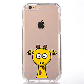 Para la cubierta ultrafina suave del caso de la contraportada del tpu de la jirafa de la historieta del iphone 7 para el iphone de la 5831015