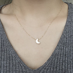 Women's Pendant Necklace Moon Crescent Moon Ladies Fashion Gold Silver Necklace Jewelry For Daily