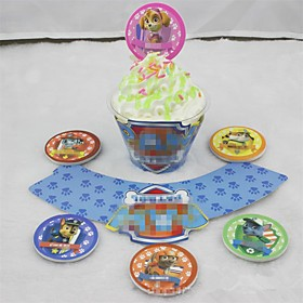 12 Pcs/Set The Dogs Shaped  Cake Paper Cup Liners Cup Of Baking Muffin Cases Patisserie Accessoire Cake Tools 5765324