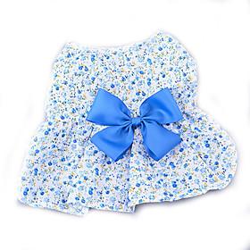 Cane Vestiti Abbigliamento per cani Casual Di tendenza Fiore Viola Blu Rosa Costume Per animali domestici 5629766