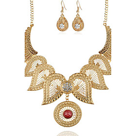 Women's Synthetic Diamond Hollow Out Jewelry Set - Flower Vintage Include Necklace / Earrings Gold / Silver For Party Special Occasion Gift