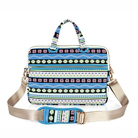 Image of 13.3 14.1 15.6 inch Snowflakes Pattern Laptop Shoulder Bag with Strap Hand Bag for Surface/Dell/HP/Samsung/Sony etc