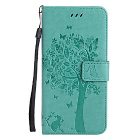 Case For Apple iPhone X / iPhone 8 Wallet / Card Holder / with Stand Full Body Cases Cat / Tree Hard PU Leather for iPhone X / iPhone 8 Plus / iPhone 8