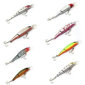 "8 pcs Hard Bait Minnow Fishing Lures Hard Bait Minnow Lure Packs phantom Multicolored g/Ounce mm/3-1/2"""" inch,Hard Plastic PlasticSea"" 5853949"
