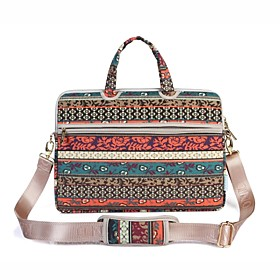 Image of 13.3 14.1 15.6 inch Retro Bohemian Style Laptop Shoulder Bag with Strap Hand Bag for Surface/Dell/HP/Samsung/Sony etc