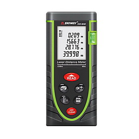 Sndway SW-M40 Handheld Digital 40m 635nm Laser Distance Measurer with Distance  Angle Measurement(1.5V AAA Batteries)