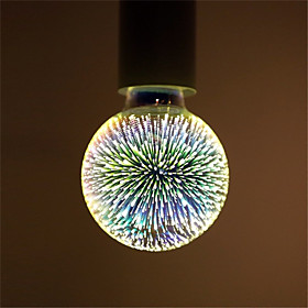1pc 6 W 500 lm E26 / E27 LED Globe Bulbs / LED Filament Bulbs G95 35 LED Beads Integrate LED Decorative / Starry / 3D Firework Multi-colors 85-265 V / RoHS