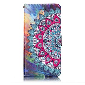Case For Apple iPhone X / iPhone 8 Wallet / with Stand / Flip Full Body Cases Mandala Hard PU Leather for iPhone X / iPhone 8 Plus / iPhone 8