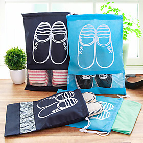 Travel Shoe Bag Shoes Bag Ultra Light (UL) Quick Dry Dust Proof Foldable Thick Travel Storage for Clothes Fabric / Travel