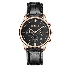 Men's Fashion Watch Quartz Leather Band Black Brown Brown black Brown Black White 5754585
