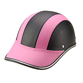 Motor Helmet Baseball Cap Style Safety Hard Hat Anti-UV  Pink Black 5802152