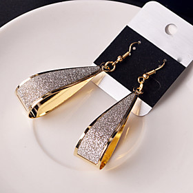 Women's Hollow Out Drop Earrings Earrings stardust Ladies Classic Jewelry Black / Silver / Golden For Wedding Party Daily Casual 1 Pair