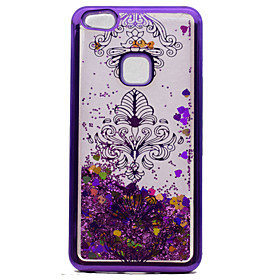 For Huawei P10 Lite P8 Lite (2017) TPU Material Plating Laser Carving Quicksand Phone Case P10 5859442