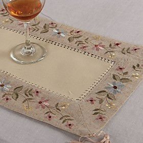 Rectangular Embroidered Placemat Line Embroidery Doily Placemat Cup mat 28x42cm 5760164