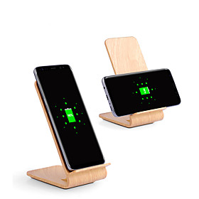 10w Fast Wireless Charger Wooden Bracket for iPhone XS iPhone XR XS Max iPhone 8 Samsung S9 Plus S8 Note 8 Or Built-in Qi Receiver Smart Phone