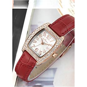 Women's Fashion Watch Quartz Leather Band Black White Red Brown Red Brown Black White 5754553