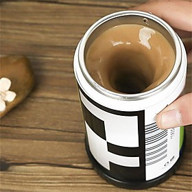 1Pcs  Film Shaped  Self  Stirring Coffee  Mugs Double Insulated Coffee Mug 400 Ml Automatic Electric Coffee Cups Smart Mugs Mixing Coffee Cup 5777158
