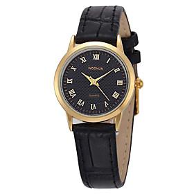 Women's Fashion Watch Quartz Leather Band Black Brown Silver Black White Gold 5790053