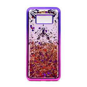 For Samsung Galaxy S8 Plus S8 TPU Material Plating Laser Carving Quicksand Phone Case S7 Edge S7 5866160