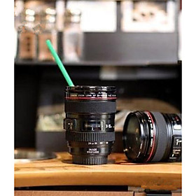 Home Use Durable DIY ABS Travel Coffee Mug Cup Water Coffee Tea Camera Lens Cup With Lid Gift 5783817