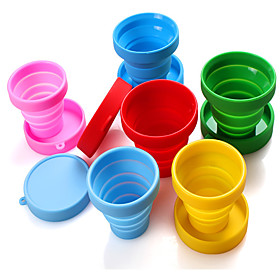 Outdoor Sports Portable Retractable Folding Cups Travel Folding Silicone Cups Silicone Mouthwash Cups 5878852