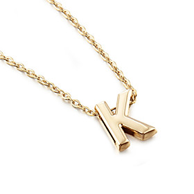 Women's Pendant Necklace Gold Plated Alphabet Shape Ladies Simple Style Fashion W X Z Necklace Jewelry 1pc For Party Gift Daily Casual