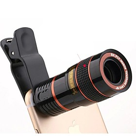 Universal HD 8X Adjustable focus Optical Telescope Mobile Phone Camera Lens with Clip Suitable for iPhone and Android Phones
