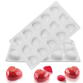 Silicone 15 Hole Heart-Shaped Non-Stick Mousse Mold Chocolate Bread Dessert Cake Decorators Baking Supplies 5924197