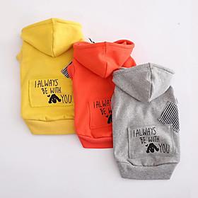 Cane Felpe con cappuccio Abbigliamento per cani Traspirante Casual Sportivo Cartoni animati Arancione Grigio Giallo Costume Per animali 5716497