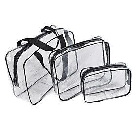 3 Pieces Totes  Cosmetic Bags Waterproof / Rain-Proof / Dust Proof Toe Nail / Nail Remover / Hand Cream PVC(PolyVinyl Chloride) / Waterproof Material / Velcro