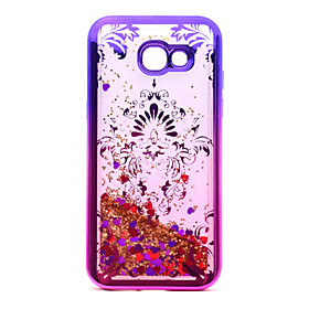 For Samsung Galaxy A5(2017) A3(2017) TPU Material Plating Laser Carving Quicksand Phone Case 5874083