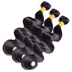 3 Bundles Indian Hair Body Wave / Classic Human Hair Natural Color Hair Weaves Human Hair Weaves Human Hair Extensions 5287680