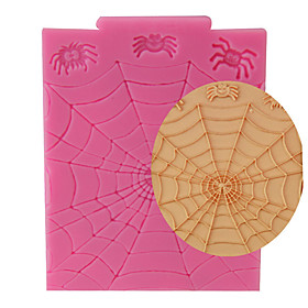 Random Color High Quality Spider Web Halloween Fondant Cake Decorating Tools Sugarcraft Baking Mould Silicone Mold Cupcake Topper 5965134