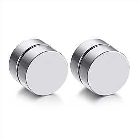 Mens Earring Set Stainless Steel Circle Magnetic Clip Stud Earrings Magnet Fake Plugs No Piercing Clip On Unisex Jewelry 5882229