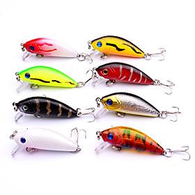 8pcs/set 5cm Swim Fish Fishing Lure Artificial Hard Crank Bait topwater Wobbler Japan Mini Fishing Crankbait lure 5979731