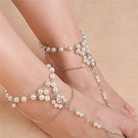 Women's Anklet/Bracelet Imitation Pearl Fashion Flower Silver Gold Women's Jewelry For Daily Casual 1pc 5894674